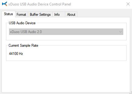 Xduoo control panel status